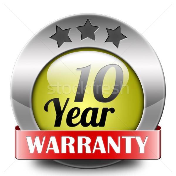 ten year warranty Stock photo © kikkerdirk