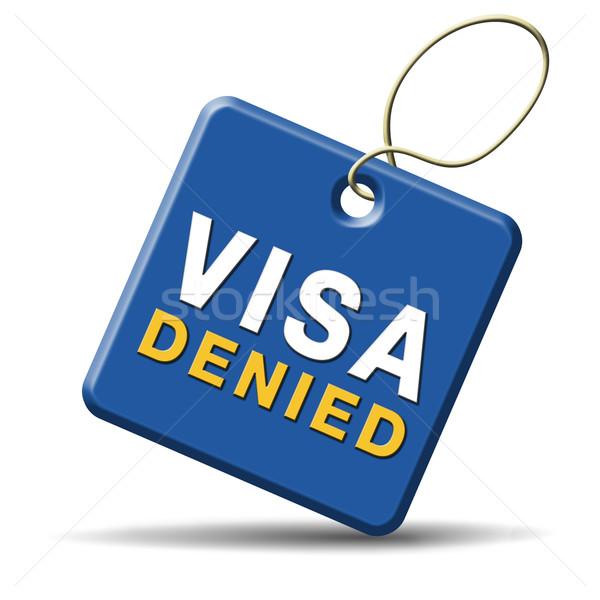 Visum immigratie stempel grens douane Stockfoto © kikkerdirk