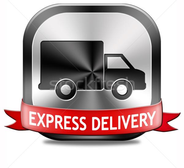 Expressz csomagszállítás expressz szállítás csomag szállítás online Stock fotó © kikkerdirk