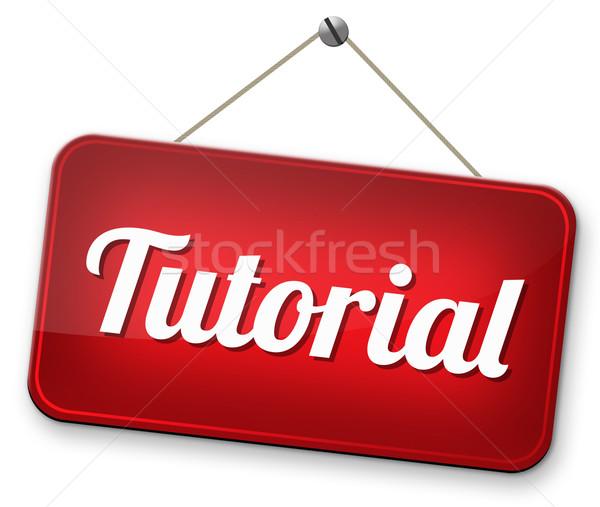 Tutorial video classe imparare online Foto d'archivio © kikkerdirk