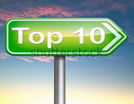 Top charts lijst pop gevolg Stockfoto © kikkerdirk