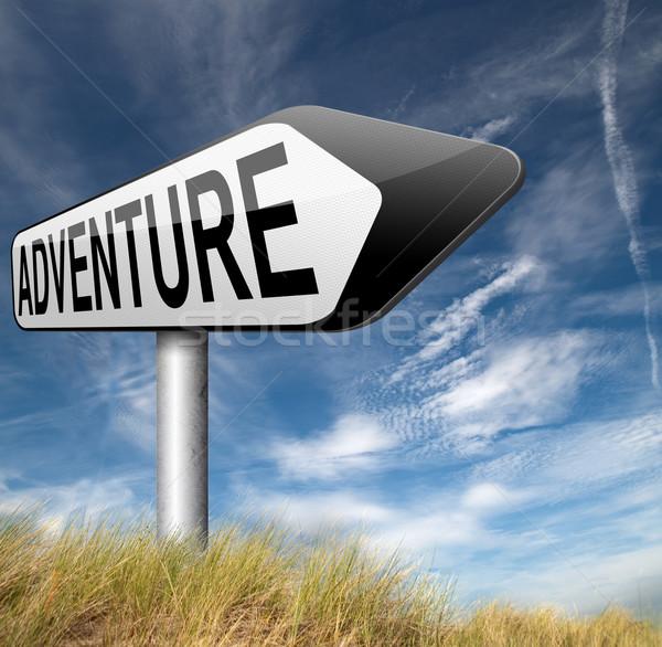 Avontuur avontuurlijk natuur vakantie reizen Stockfoto © kikkerdirk