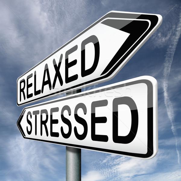 relaxed or stressed Stock photo © kikkerdirk