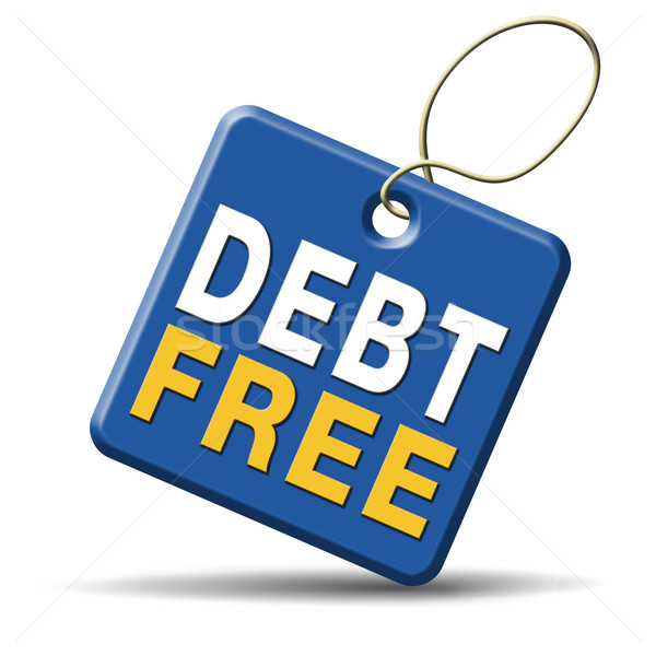 Stock photo: debt free zone