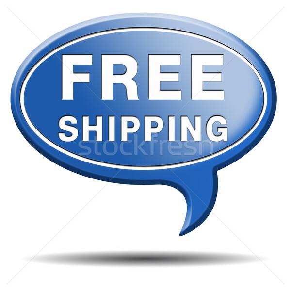 Stock fotó: Ingyenes · szállítás · házhozszállítás · rendelés · háló · bolt · szállítmány