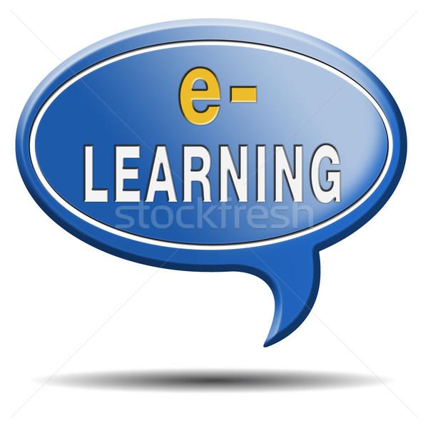 Ligne internet apprentissage ouvrir école Photo stock © kikkerdirk