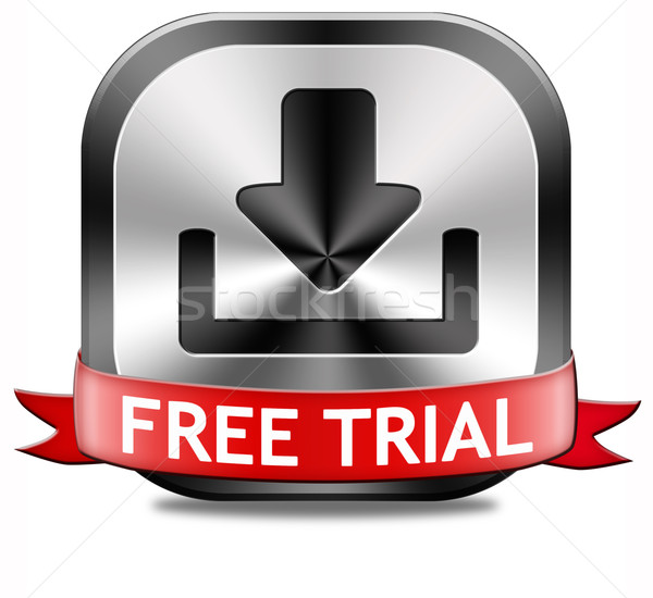 Stock photo: free trial download button