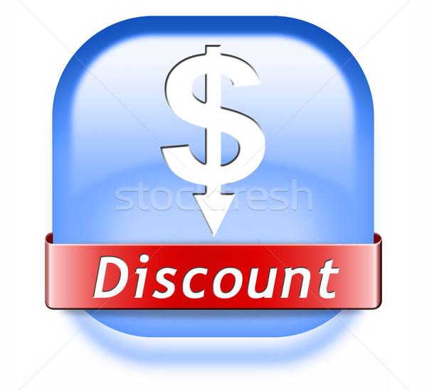 Korting butt verkoop koopje reductie icon Stockfoto © kikkerdirk