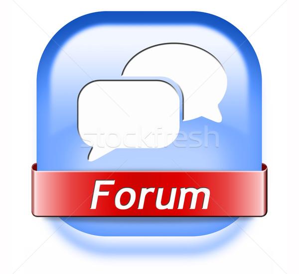 forum button Stock photo © kikkerdirk