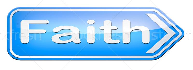 Geloof vertrouwen god jesus liefde bijbel Stockfoto © kikkerdirk
