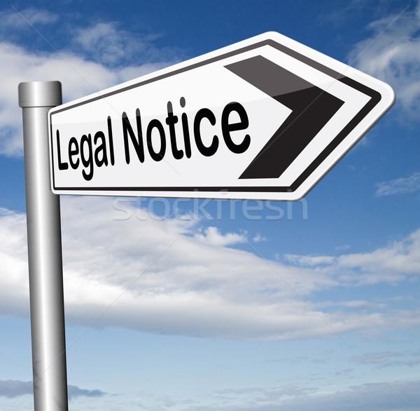 Yasal imzalamak web hukuk yardım Stok fotoğraf © kikkerdirk