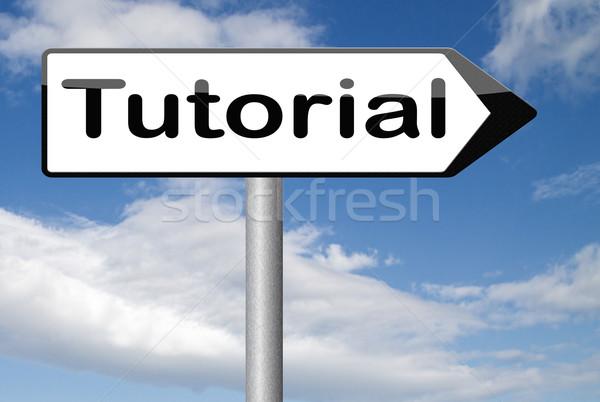 Tutoriel vidéo classe apprendre ligne Photo stock © kikkerdirk