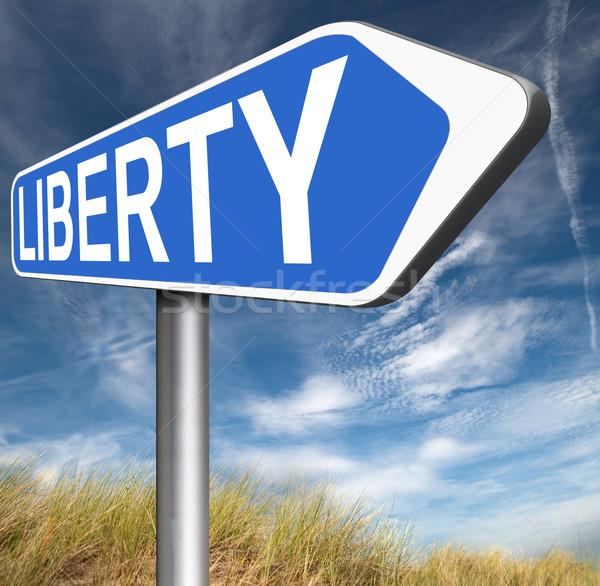 özgürlük özgürlük demokrasi insan hakları ücretsiz konuşma Stok fotoğraf © kikkerdirk