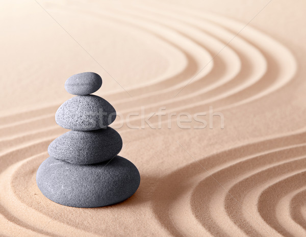 Japanese zen meditation garden Stock photo © kikkerdirk