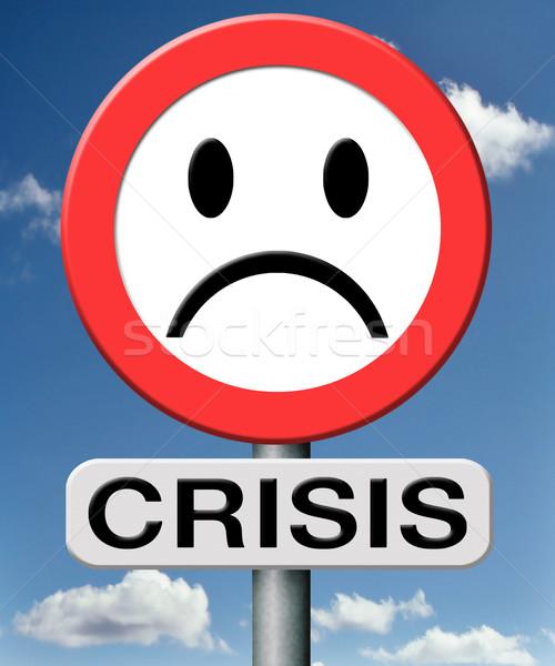 Válság bank gazdasági pénzügyi recesszió tőzsde Stock fotó © kikkerdirk