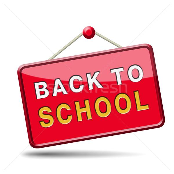 Vissza az iskolába jó oktatás tudás érettségi iskola Stock fotó © kikkerdirk