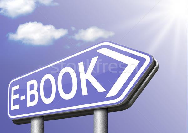 Ebook digital leitura ler on-line Foto stock © kikkerdirk