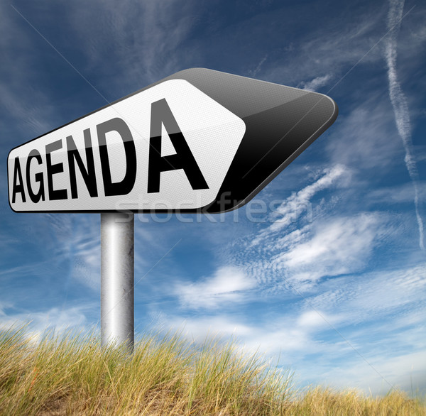 Photo stock: L'ordre · du · jour · calendrier · affaires · calendrier · planification