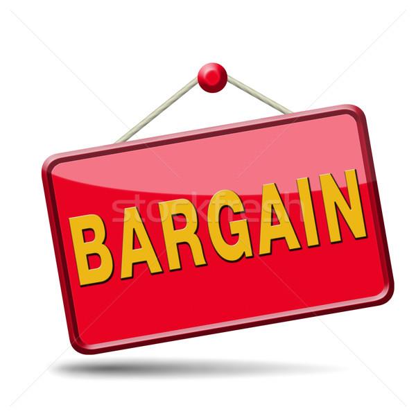 bargain red placard Stock photo © kikkerdirk