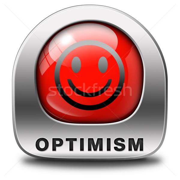 Optimismo icono positivo pensando positividad actitud Foto stock © kikkerdirk