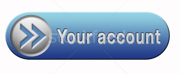 Cuenta navegación botón icono web azul Foto stock © kikkerdirk
