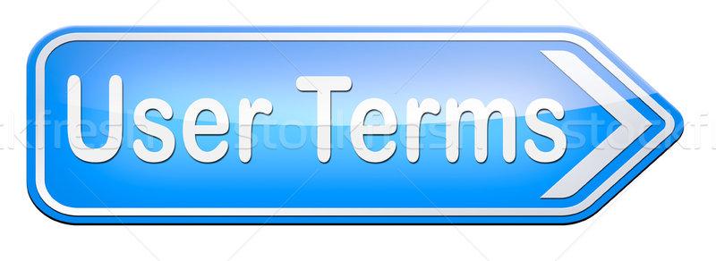 user terms Stock photo © kikkerdirk