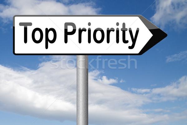 Top prioriteit hoog urgent geheime info Stockfoto © kikkerdirk