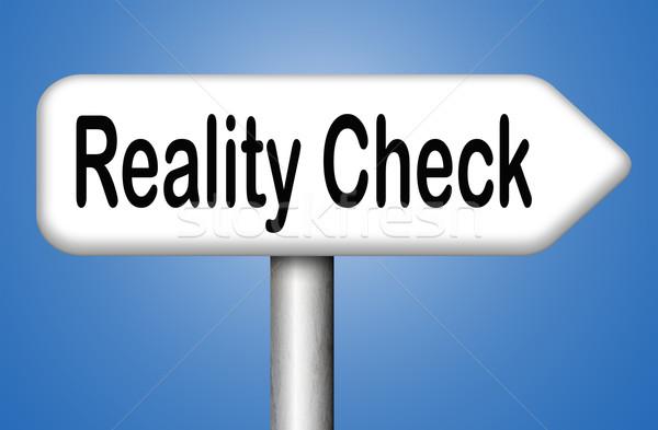 Realidade verificar para baixo terra de volta Foto stock © kikkerdirk