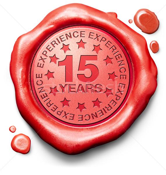Quinze anos experiência 15 ano Foto stock © kikkerdirk