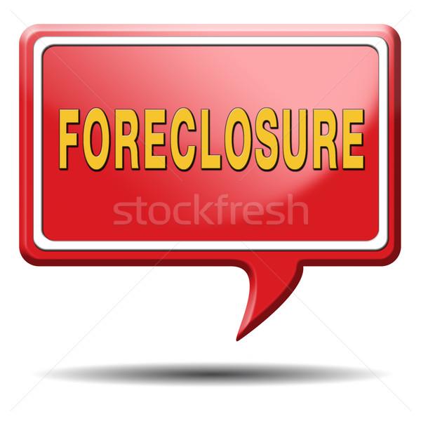 Zálogjog érvényesítése árverés figyelmeztetés jelzálog ház kölcsön Stock fotó © kikkerdirk