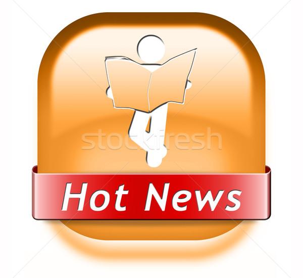 hot daily breaking news Stock photo © kikkerdirk