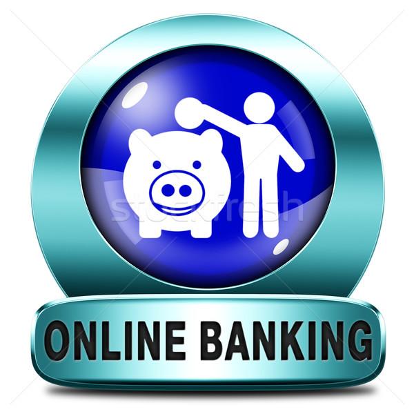 банковской онлайн деньги депозит интернет банка Сток-фото © kikkerdirk