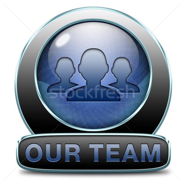 Team knop werk business banner over ons Stockfoto © kikkerdirk