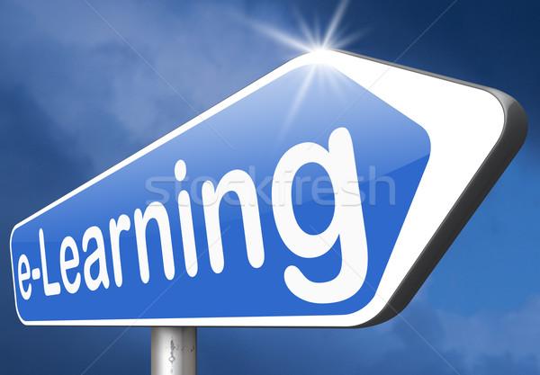 Stok fotoğraf: çevrimiçi · eğitim · Internet · öğrenme · açmak