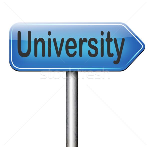 Università istruzione laurea studio applicazione Foto d'archivio © kikkerdirk