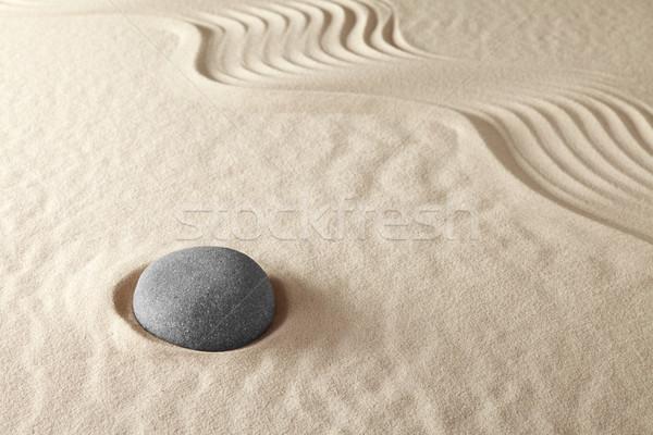 Stok fotoğraf: Zen · meditasyon · bahçe · Japon · budizm · uyum