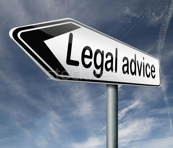 Giuridica consiglio informazioni avvocato consulente arrow Foto d'archivio © kikkerdirk