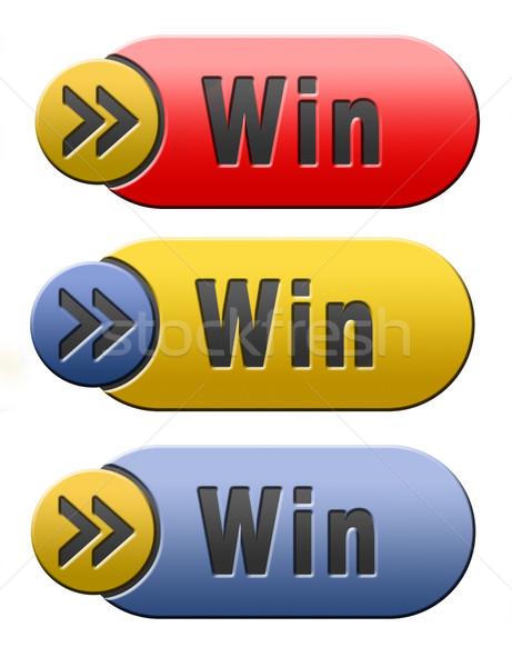 win button Stock photo © kikkerdirk