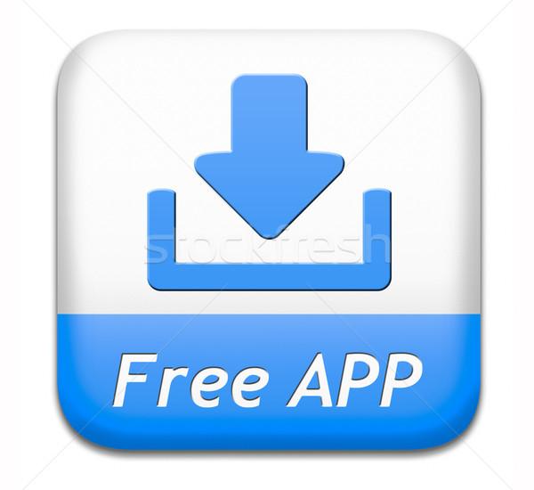 Free app download button Stock photo © kikkerdirk