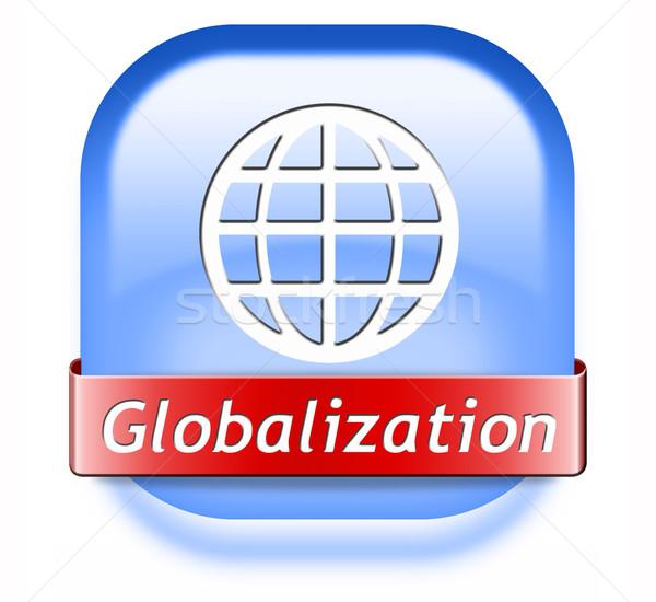 глобализация кнопки глобальный открытых рынке международных Сток-фото © kikkerdirk