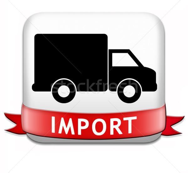 Import międzynarodowych światowy globalny handlu Zdjęcia stock © kikkerdirk