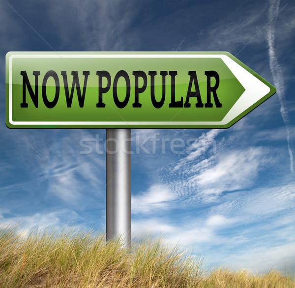 Populair nu mode trend verkeersbord idee Stockfoto © kikkerdirk