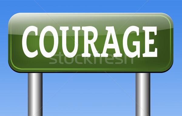 Coraggio coraggioso capacità paura dolore pericolo Foto d'archivio © kikkerdirk
