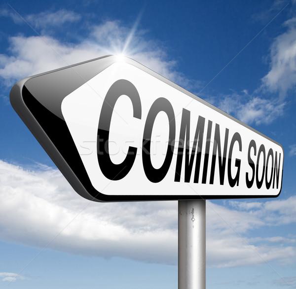 Stock fotó: Hamarosan · jön · márka · új · termék · közzététel · következő