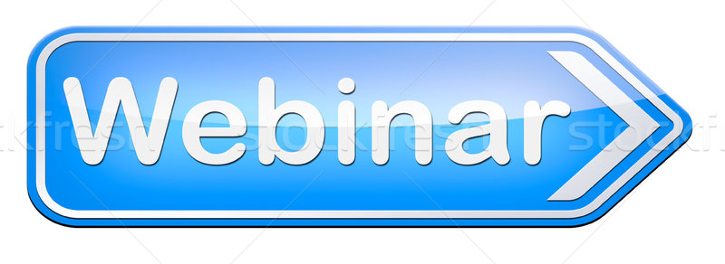 Webinar online conferentie internet web vergadering Stockfoto © kikkerdirk