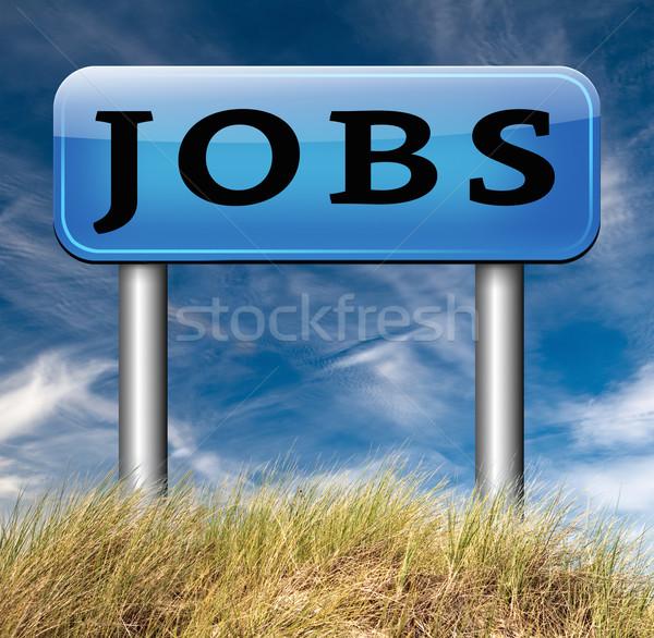 álláskeresés új állás nyitás keresés állások segítség Stock fotó © kikkerdirk