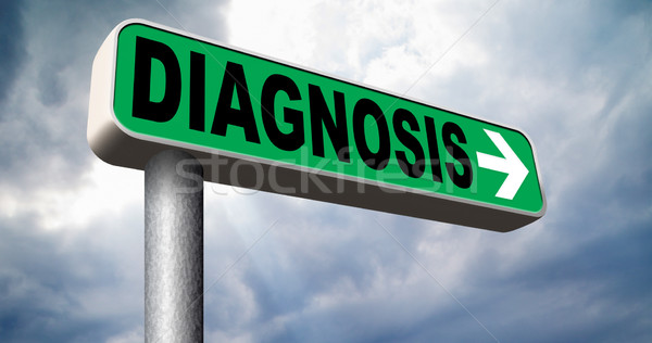Diagnosi medici diagnostica opinione medico chiedere Foto d'archivio © kikkerdirk