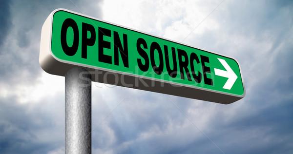 Stockfoto: Open · bron · programma · software · economie · internet