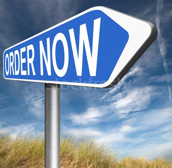 order now Stock photo © kikkerdirk