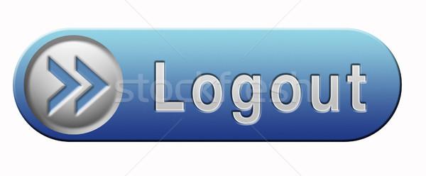 Kijelentkezés gomb felhasználó tag szalag Stock fotó © kikkerdirk